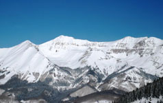 Telluride from the ski slopes